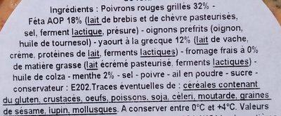 Tartinade à la grecque - Ingredients