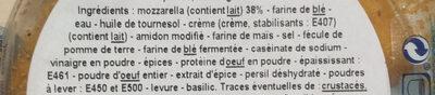 Sticks mozzarella - Ingredienti - fr