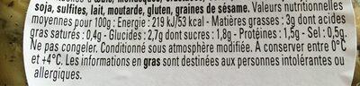 Artichaut grillé - Voedingswaarden - fr