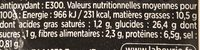 8 Blinis - Nutrition facts