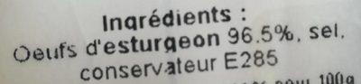 Caviar Royal - Ingredients - fr