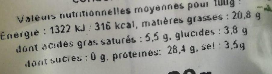 Caviar Royal - Nutrition facts - fr