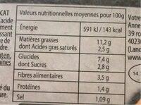 Guacamole avec morceaux - Informations nutritionnelles - fr