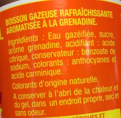 Royal Soda Grenadine - Ingrédients