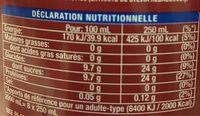 Fanta Kampane - Informations nutritionnelles - fr
