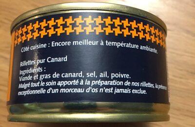 Rillettes pur canard - Ingrediënten - fr