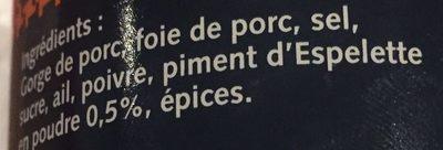 Pâté Recette Basque - Ingrédients - fr