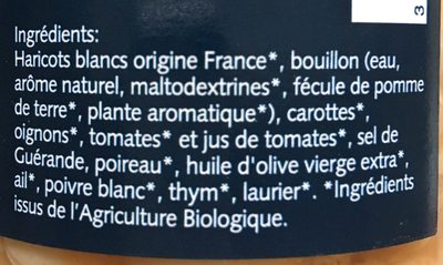 Haricots BIO cuisinés - Ingrediënten - fr