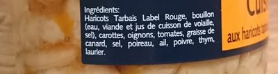 Haricots tarbais cuisines - Ingredients