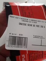 Saucisse seche de foie - Produit - fr
