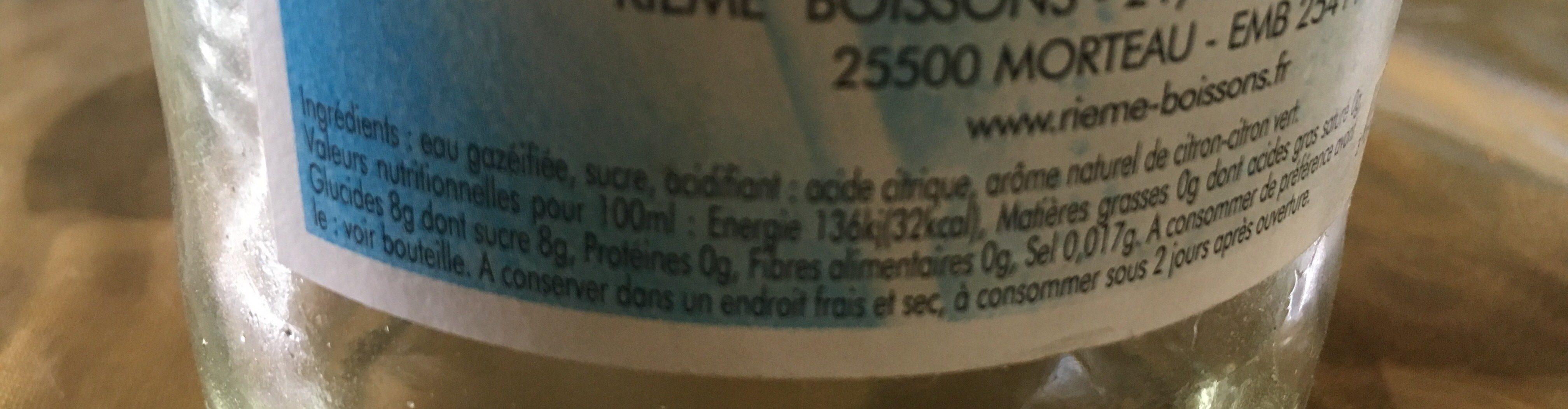 Limonade - Ingredients