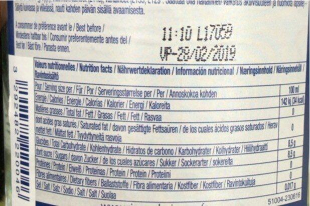 La Mortuacienne Pamplemousse - Informations nutritionnelles - fr