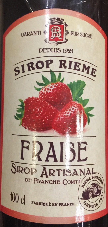 Sirop de fraise - Product