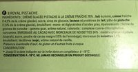 Royal Saveur Pistache - Ingredients