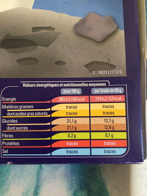 Fusée - Informations nutritionnelles