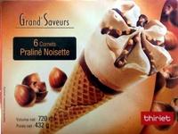 6 cornets praliné noisette - Produit