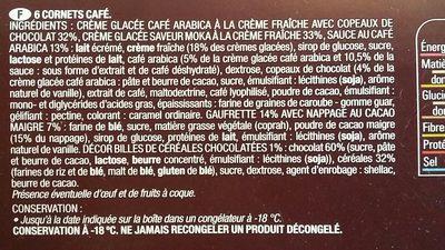 Cône Vanille Café - Ingrediënten