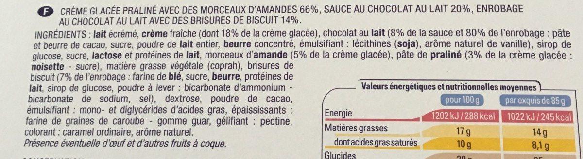 Mes 4 Exquis Façon Rocher - Ingrédients - fr