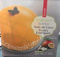 Bombe Noix de Coco Fruits Exotiques - Produit - fr