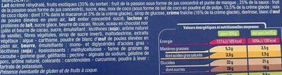 Bombe Noix de Coco Fruits Exotiques - Ingrédients - fr