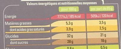 Bombe Noix de Coco Fruits Exotiques - Informations nutritionnelles - fr