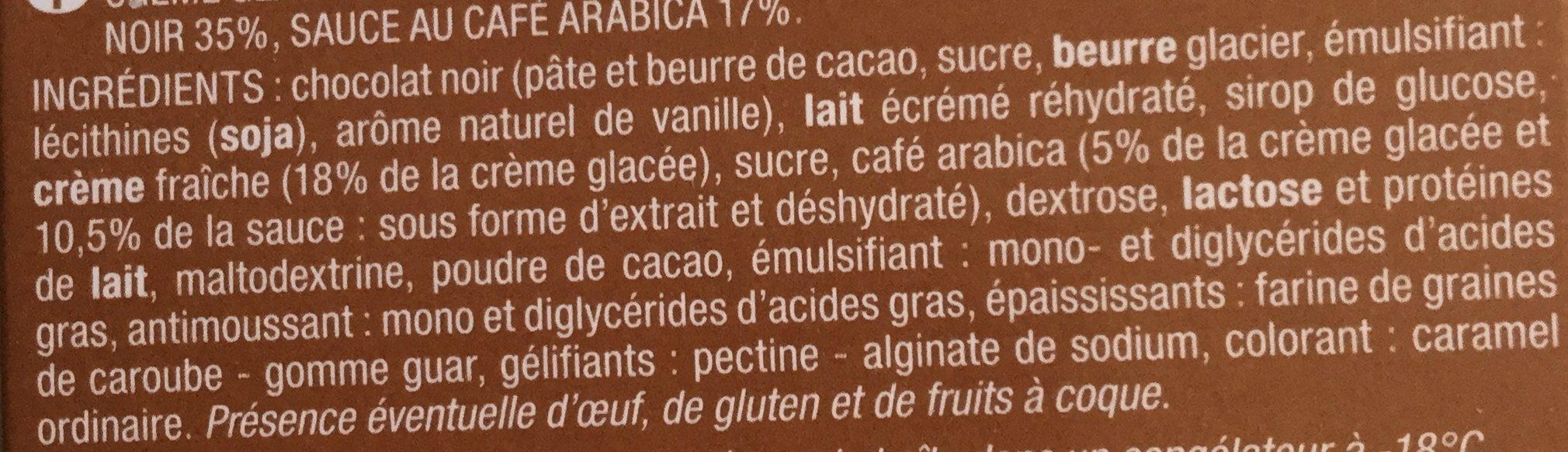 12 rochers glacés Café Arabica - Ingrédients