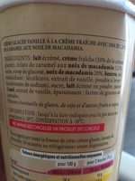 Vanille Macadamia - Ingredients