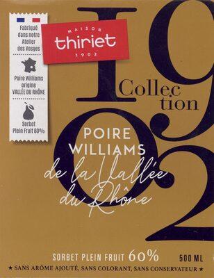 Sorbet Poire Williams de la Vallée du Rhône - Produit - fr