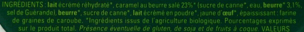 Crème glacée Caramel au beurre salé - Ingredients - fr