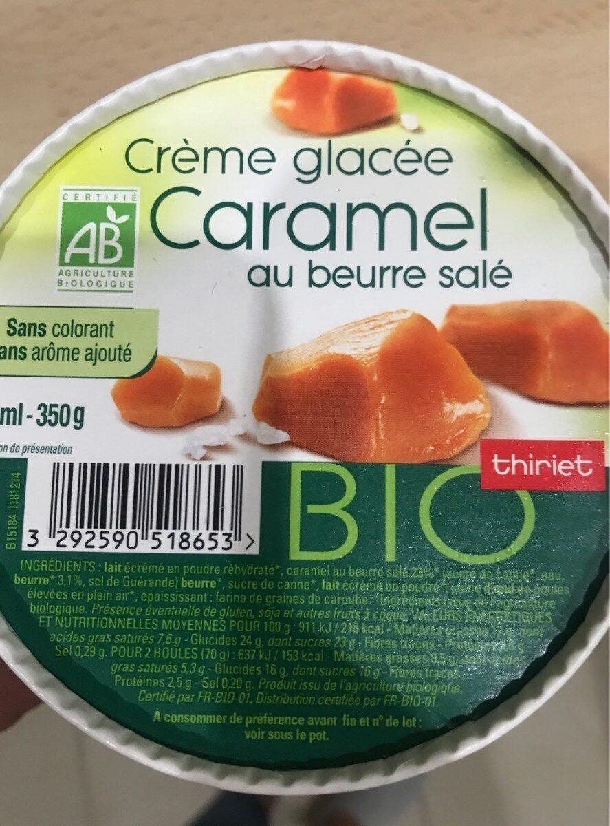 Crème glacée Caramel au beurre salé - Nutrition facts - fr