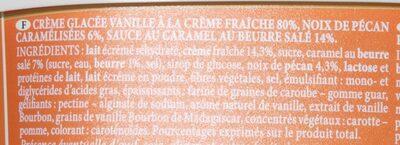 Volupta Vanille Caramel Pécan - Ingrédients