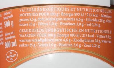 Volupta Vanille Caramel Pécan - Informations nutritionnelles