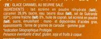 Glace au caramel beurre salé - Ingrédients - fr