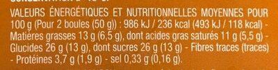 Glace au caramel beurre salé - Informations nutritionnelles - fr