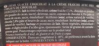 Crème glacée chocolat - Ingredientes