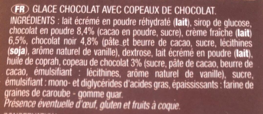 Glace chocolat acec copeaux de chocolat - Ingrédients - fr