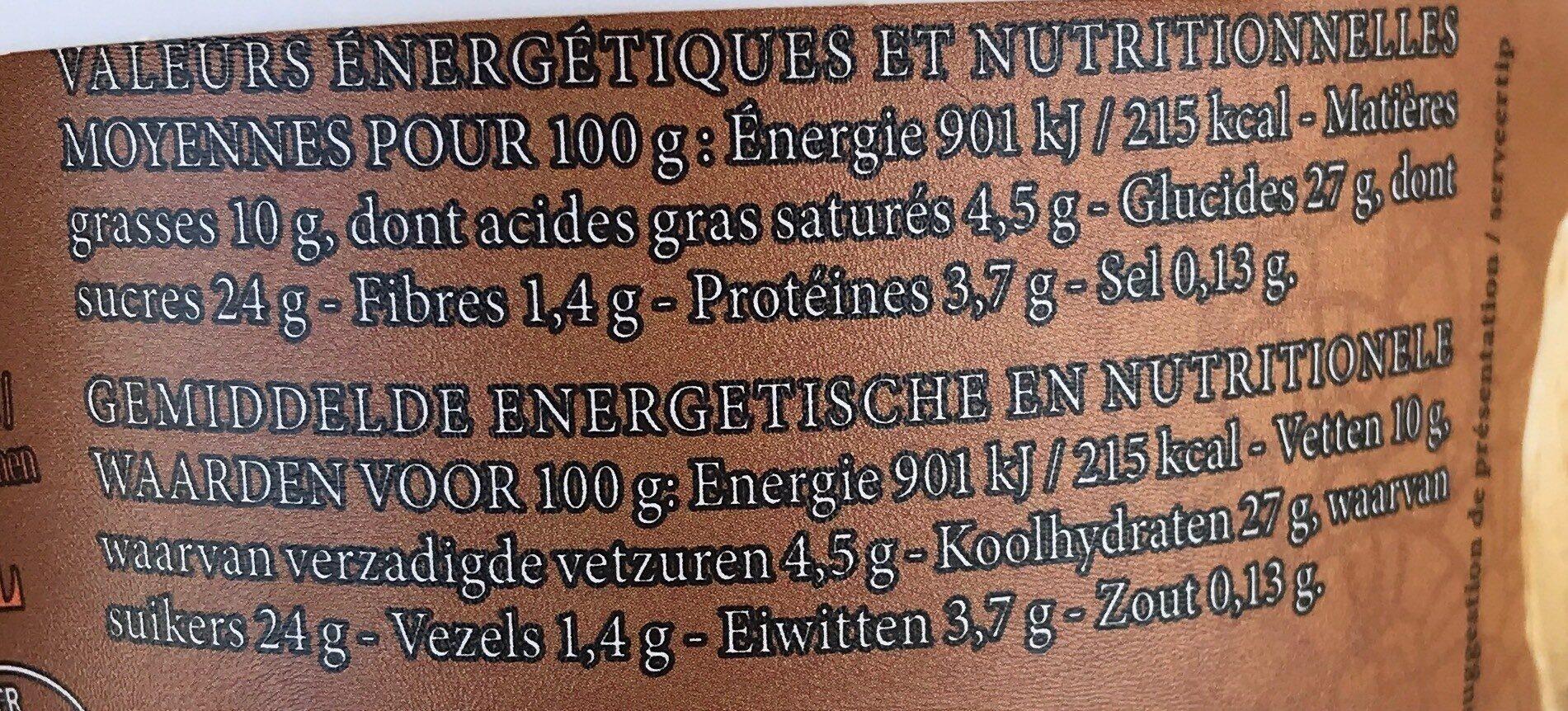 Crème glacée praliné noisettes & morceaux de noisettes caramélisées - Nutrition facts - fr