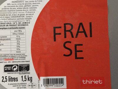Sorbet fraise - Produit