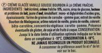Vanille Gousse Bourbon - Ingredients