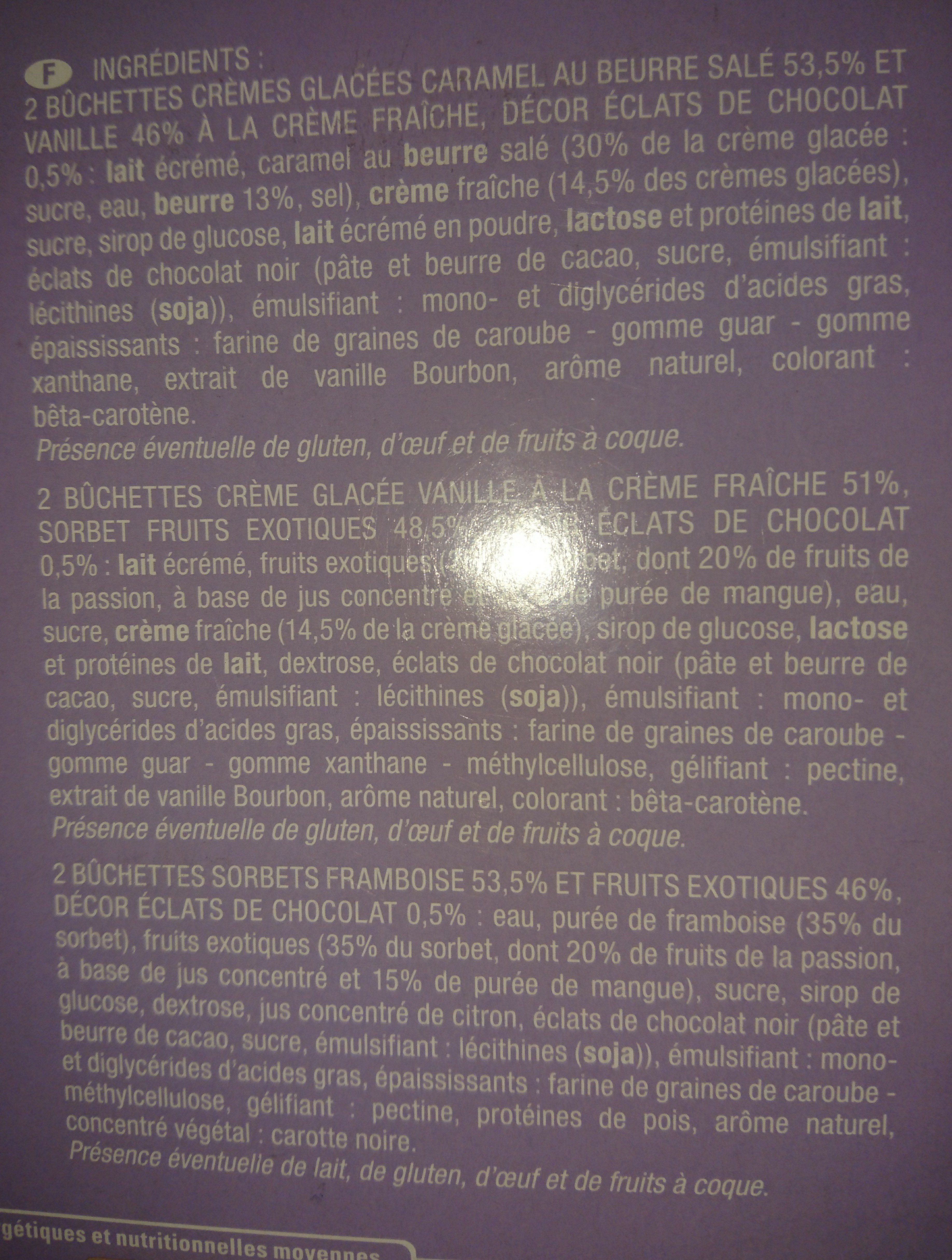 Buchettes panachées - Ingrédients - fr