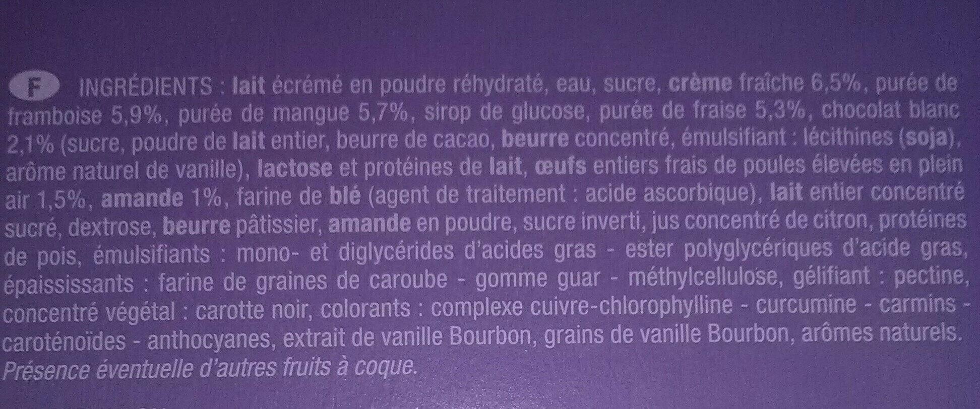 Délice de fruits - Ingredients