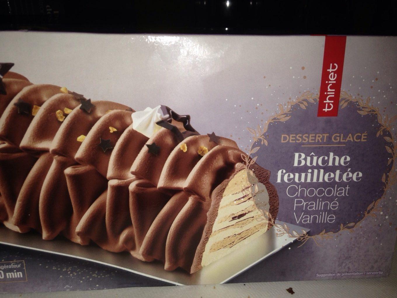 Buche feuilletée chocolat praliné vanille - Produit - fr