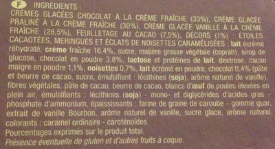 Buche feuilletée chocolat praliné vanille - Ingrédients - fr