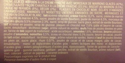 Dessert glacé - legende de Noel Marron - Ingrédients - fr