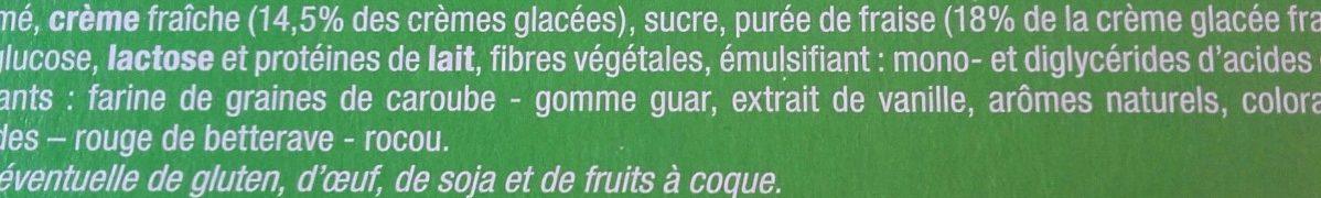 12 Pots Vanille Fraise - Ingredients