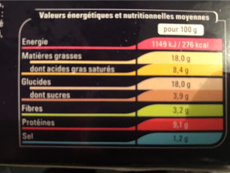 Foret nordique - Voedingswaarden - fr