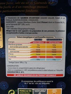 Saumon Atlantique fumé a la ficelle - Ingrediënten - fr