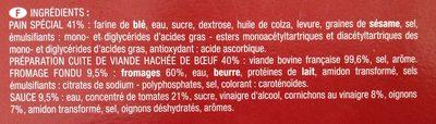 4 Cheese Burgers - Ingrédients - fr