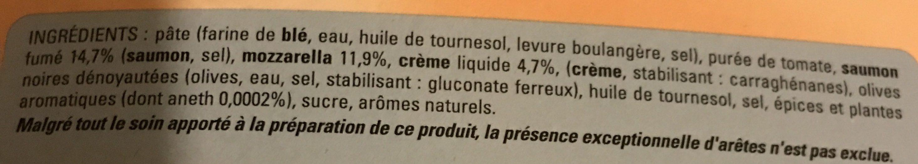 Pizza saumon - Ingrédients - fr