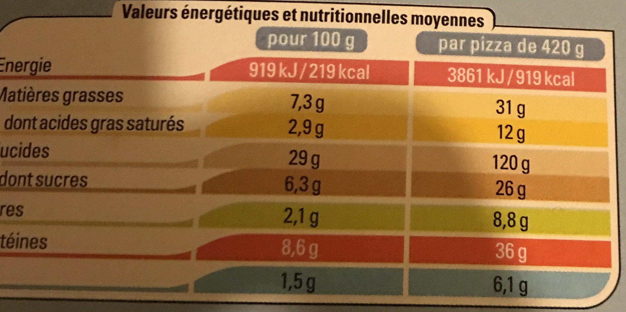 Pizza saumon - Informations nutritionnelles - fr
